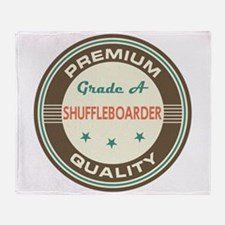 Shuffleboarder Vintage Throw Blanket