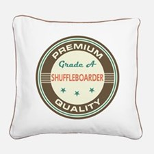 Shuffleboarder Vintage Square Canvas Pillow