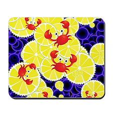 Crabs on lemon Mousepad