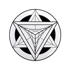 "Merkabah Star Tetrahedron 3.5"" Button"