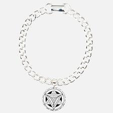 Merkabah Star Tetrahedro Charm Bracelet, One Charm