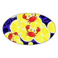 Crabs on lemon Decal