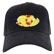 Crabs on lemon Baseball Hat