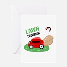 Lawn Enforcement Greeting Cards