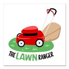 "The Lawn Ranger Square Car Magnet 3"" x 3"""