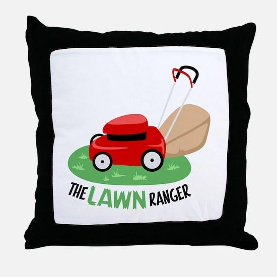 The Lawn Ranger Throw Pillow
