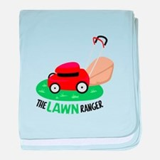 The Lawn Ranger baby blanket