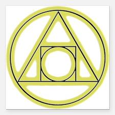 "Classic Alchemy Square Car Magnet 3"" x 3"""