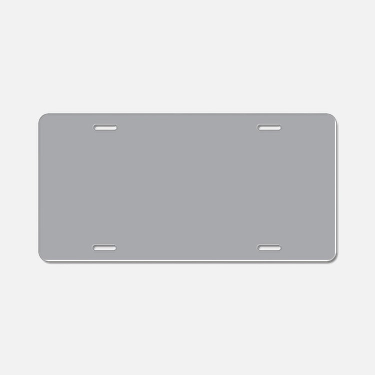 Light Gray Solid Color Aluminum License Plate