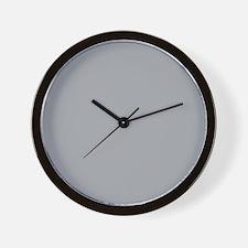 Light Gray Solid Color Wall Clock
