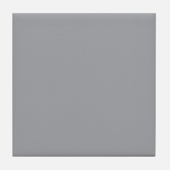 Light Gray Solid Color Tile Coaster