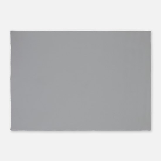 Light Gray Solid Color 5'x7'Area Rug