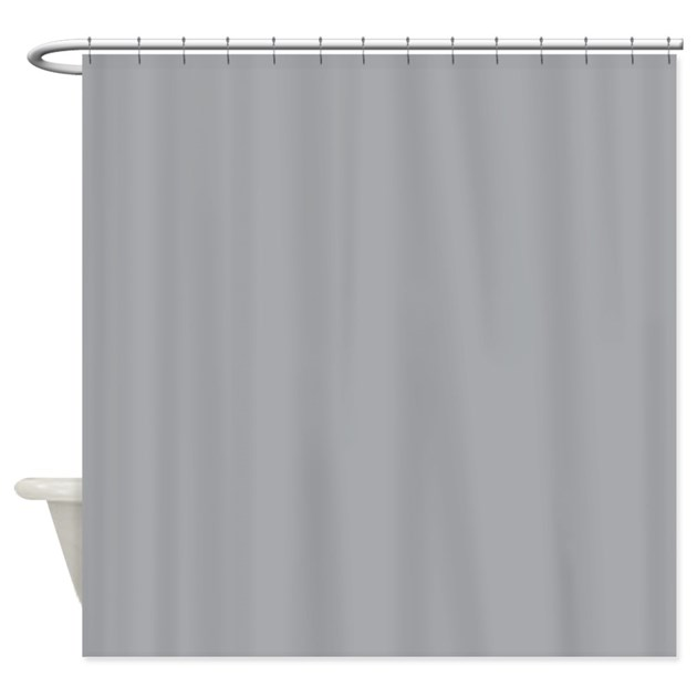 Light Gray Solid Color Shower Curtain By Beautifulbed