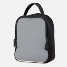 Light Gray Solid Color Neoprene Lunch Bag