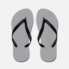 Light Gray Solid Color Flip Flops