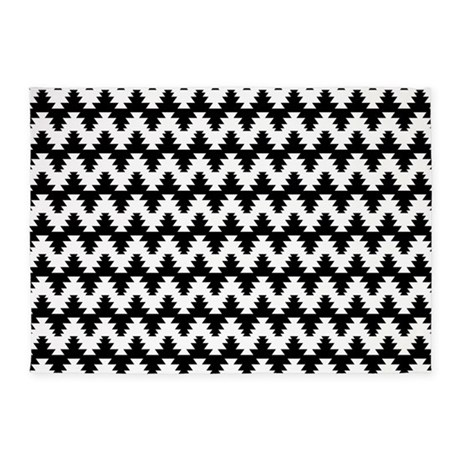 Black And White 5 39 X7 39 Area Rug By Arkmoldsden