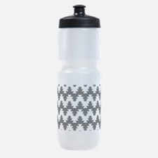 Black and White Sports Bottle