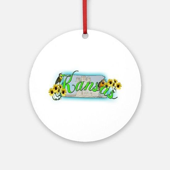 Kansas Ornament (Round)