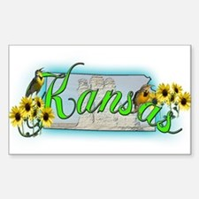 Kansas Rectangle Decal