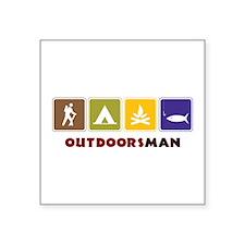 Out Doors Man Sticker
