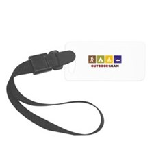 Out Doors Man Luggage Tag