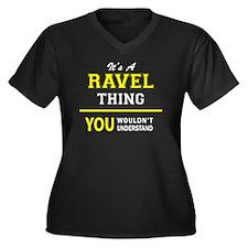 Ravel Women's Plus Size V-Neck Dark T-Shirt