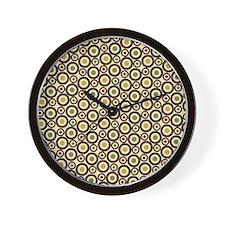 Trendy Retro Circles Pattern Wall Clock