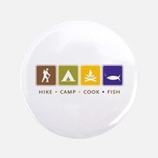 "Outdoor Camping 3.5"" Button"