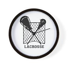 Lacrosse by Other Sports & Stuff LLC Wall Clock