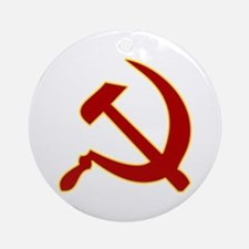 Hammer and Sickle Ornament (Round)