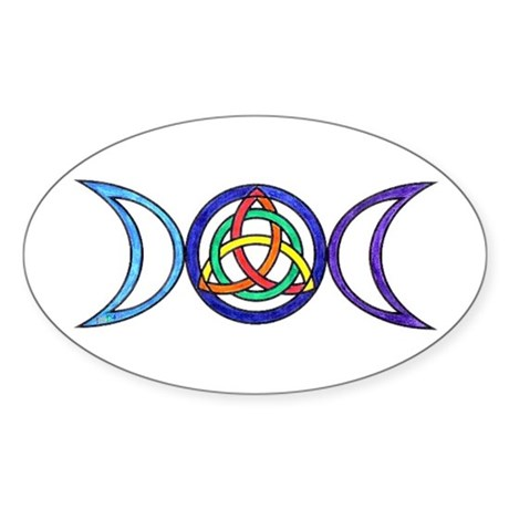 Balanced Oval Sticker