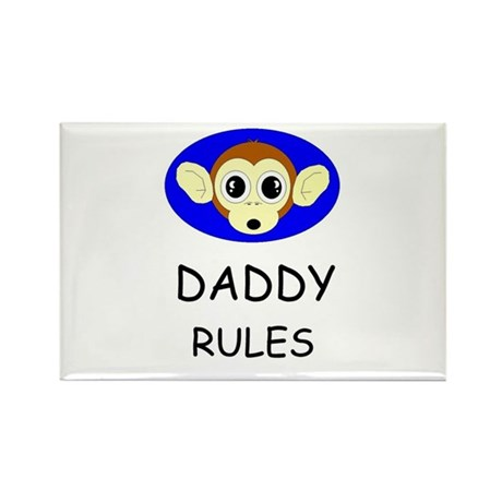 DADDY RULES Rectangle Magnet