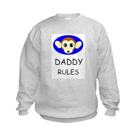 DADDY RULES Kids Sweatshirt