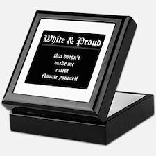 WHITE & PROUD Keepsake Box