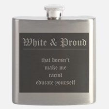 WHITE & PROUD Flask