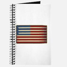 Retro Drummer Drumstick Flag Journal