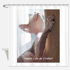 Nakkid Cat's do it better! Shower Curtain