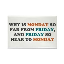 Monday So Far From Friday Rectangle Magnet