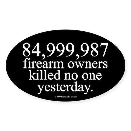 84,999,987 Oval Sticker