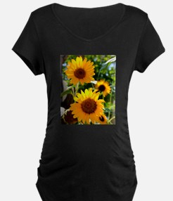 Sunflowers Old Town Albuquerque Maternity T-Shirt