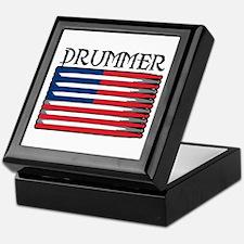 Drummer USA Flag Drumsticks Keepsake Box