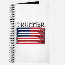 Drummer USA Flag Drumsticks Journal