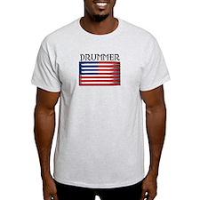 Drummer USA Flag Drumsticks T-Shirt