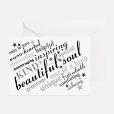 Positive Thinking Text Greeting Cards
