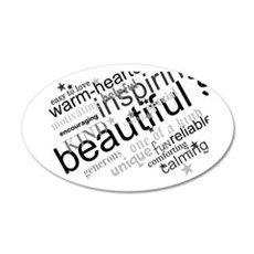 Positive Thinking Text Wall Sticker