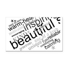 Positive Thinking Text Rectangle Car Magnet