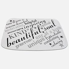 Positive Thinking Text Bathmat