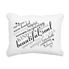 Positive Thinking Text Rectangular Canvas Pillow