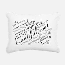 Positive Thinking Text Rectangular Canvas Pillow