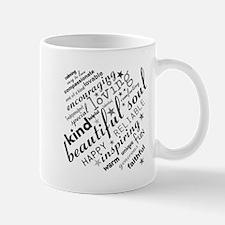 Positive Thinking Text Mugs